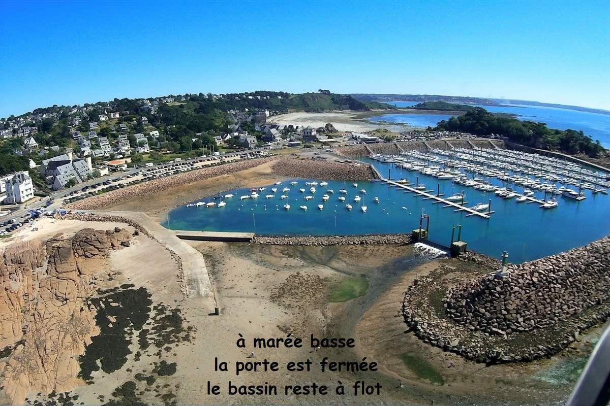 Photos aériennes port de Trébeurden (Côte d'Armor)