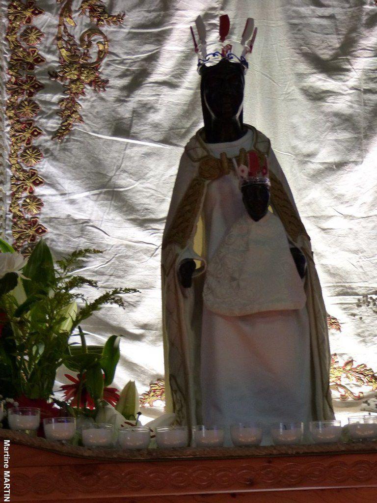 Vierge noire de Rocamadour exposée à Notre Dame du Bon Port aux Sables d'Olonne