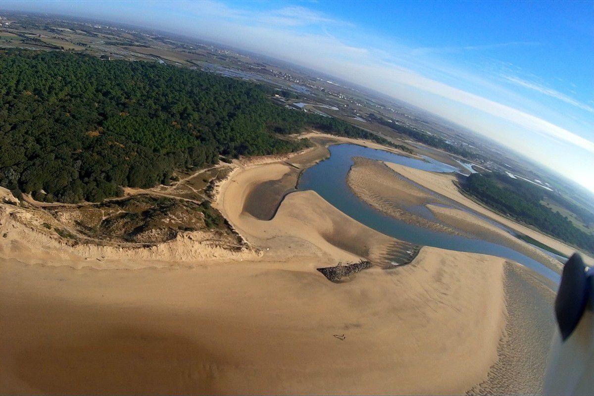 Photos aériennes de la dune du Veillon à Talmont saint Hilaire
