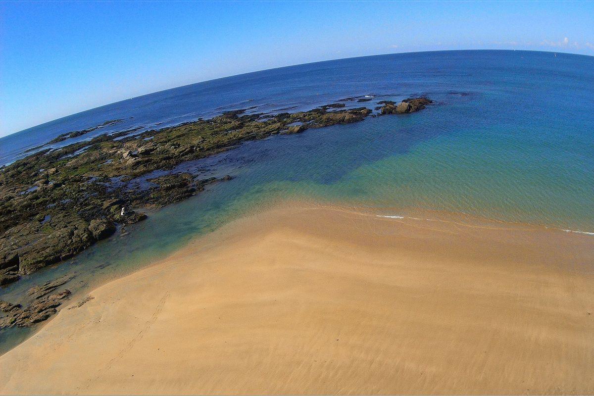 Photos de la plage du tanchet aux Sables d'Olonne vue par un Cerf Volant