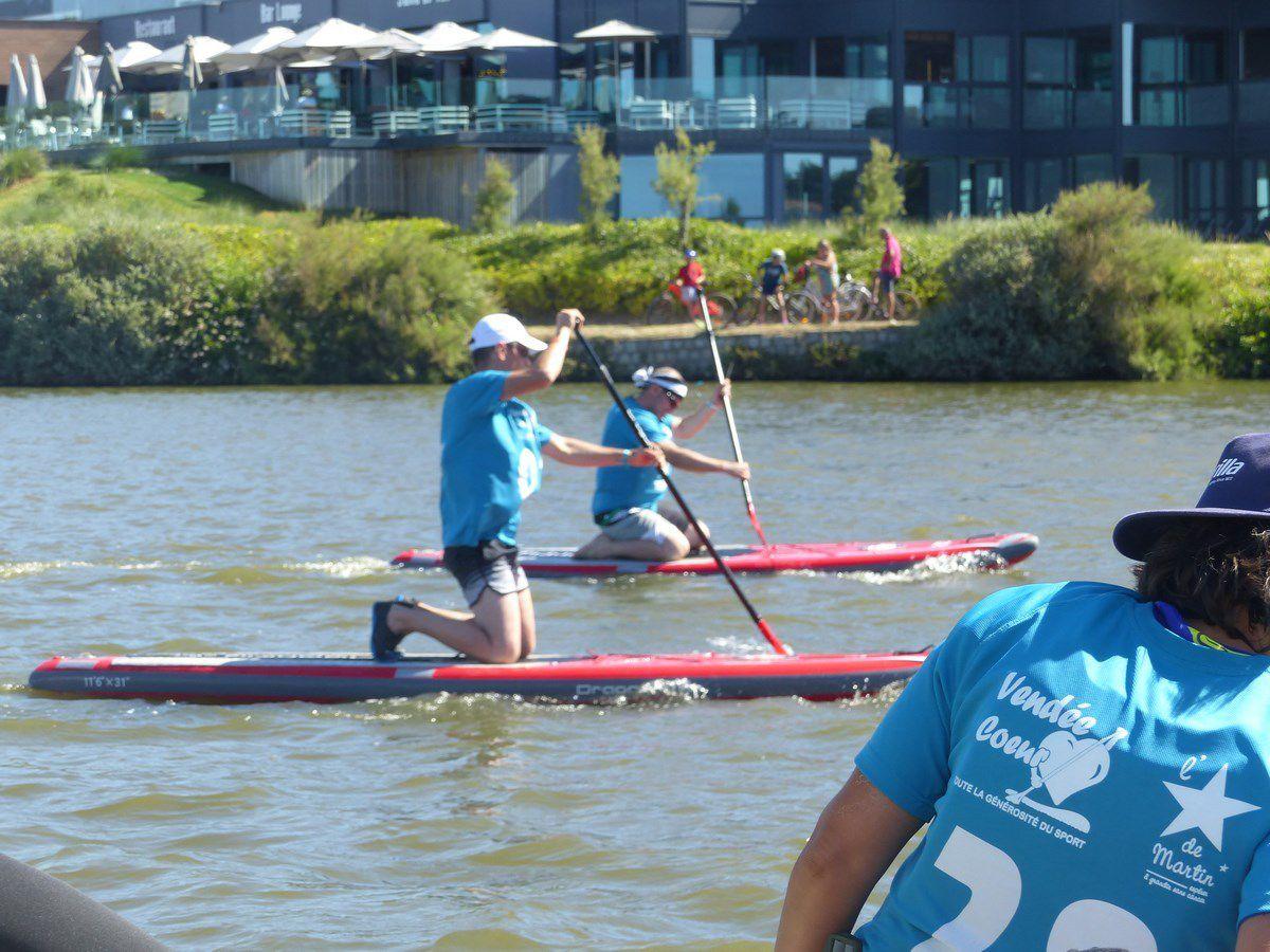 VendéeCoeur / compétition paddle aux Sables d'Olonne