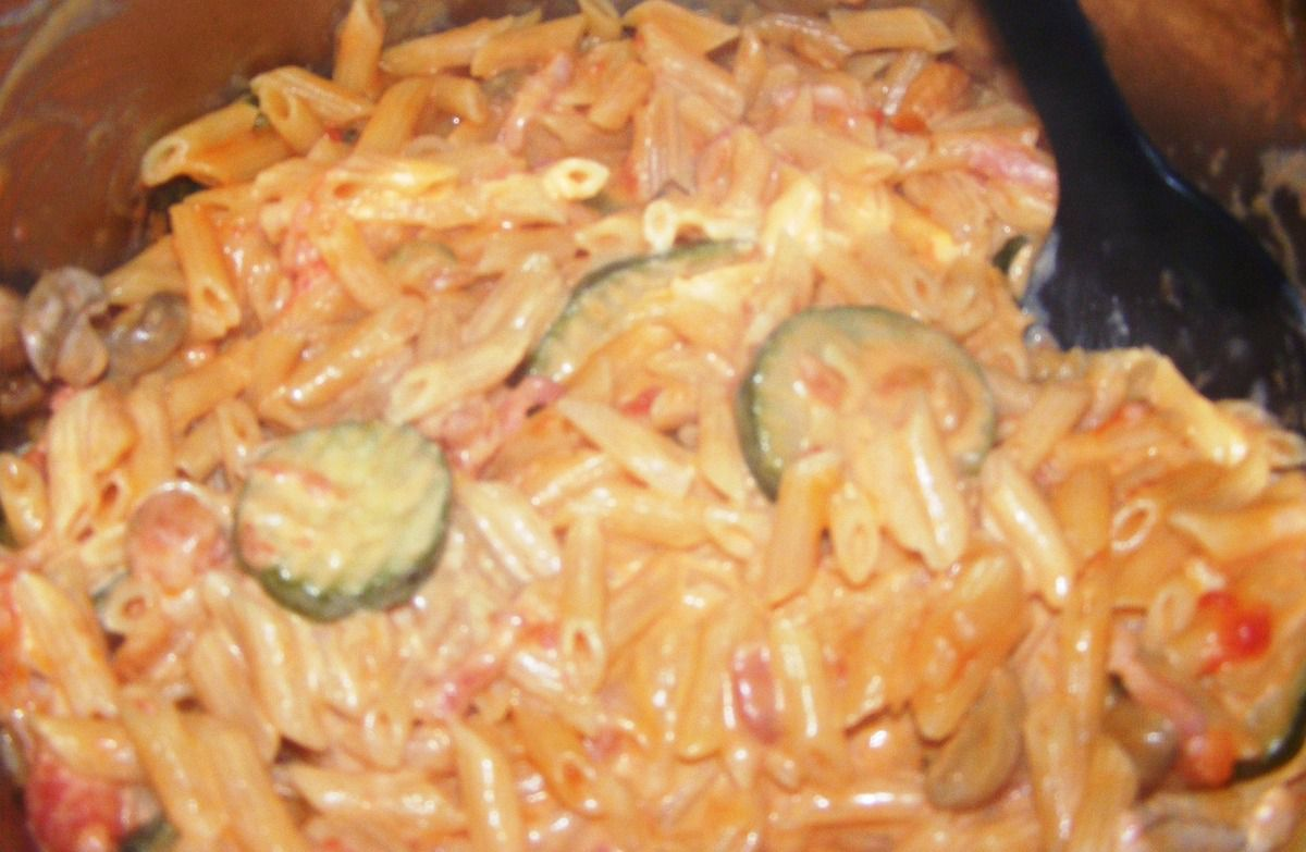One pot pasta (fond de frigo)