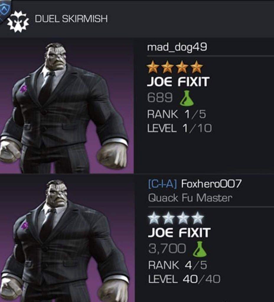 marvel contest of champions duel Joe Fixit