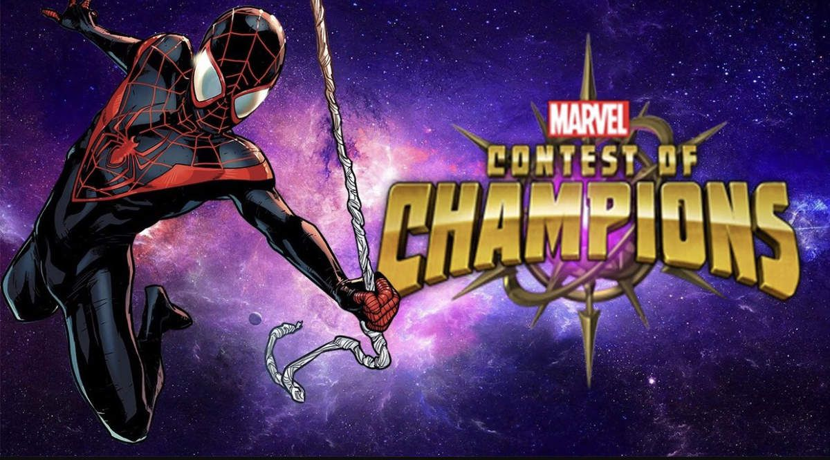 Spiderman miles morales en arène sur marvel contest of champions.