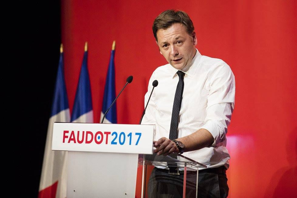 Bastien Faudot, le 24 septembre 2016 à Malakoff (92), lors de la présentation de son projet pour la France