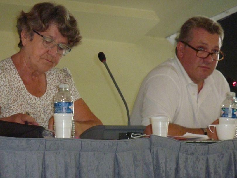 Jean-Marc Nicolle, ici au côté de Martine Souvignet, le 20 septembre 2014 à Caen lors de l'université de rentrée du Mouvement Républicain et Citoyen