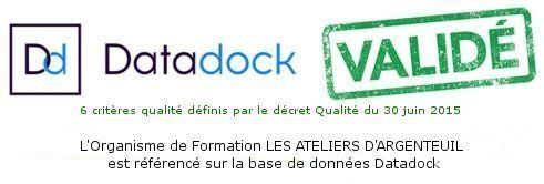 Les Ateliers d'Argenteuil, organisme de formation inscrit sur Datadock
