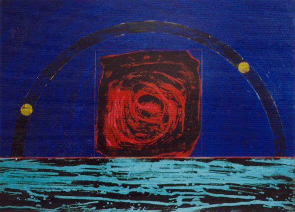 Acrylique sur papier 38 x 53 cm - n°0580 - 01/1991