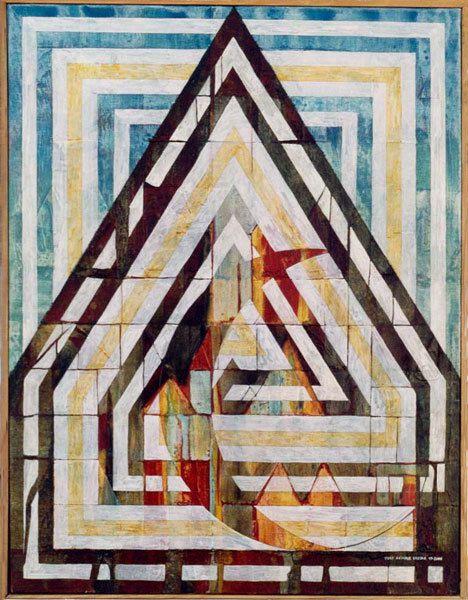 Maison plus intérieure - Acrylique sur toile 65 x 50 cm - N°1300 - 11/2000 - Coll. Liva Havranek
