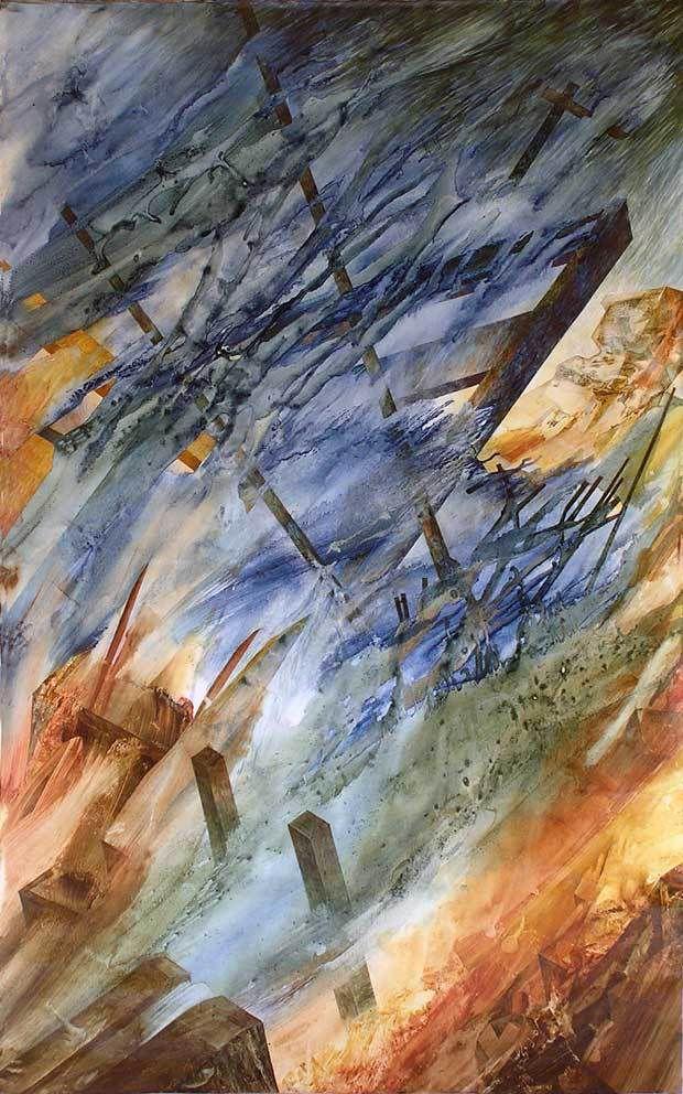 Yves Desvaux Veeska N°1907 - Janv. Juin 2013 - Acrylique sur toile - 100 X 160 cm - Coll. Mireille Vincent