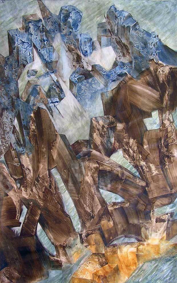 Yves Desvaux Veeska N°1902 - Sept.déc. 2012 - Acrylique sur toile - 100 X 160 cm - 750 €