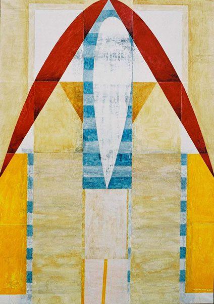 Albatros, acrylique sur toile 130 x 89 cm, n°1282, 11/2000