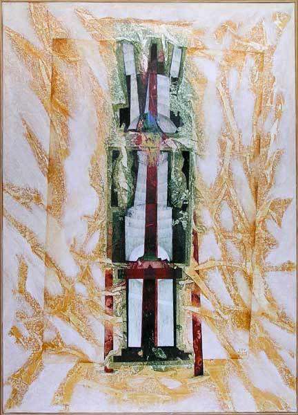 Monument minimum, n°1514 - 05/2005 - Acrylique sur toile 65 x 92 cm