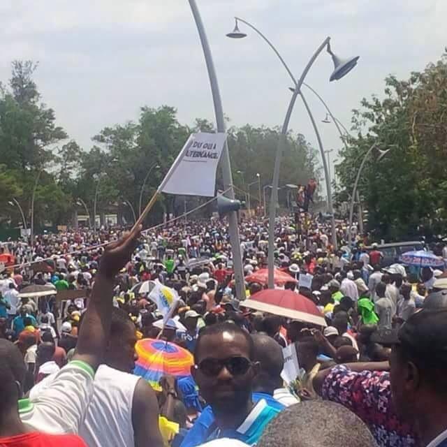 Congo Brazzaville: Meeting anti-Référendum, Tout en Image.