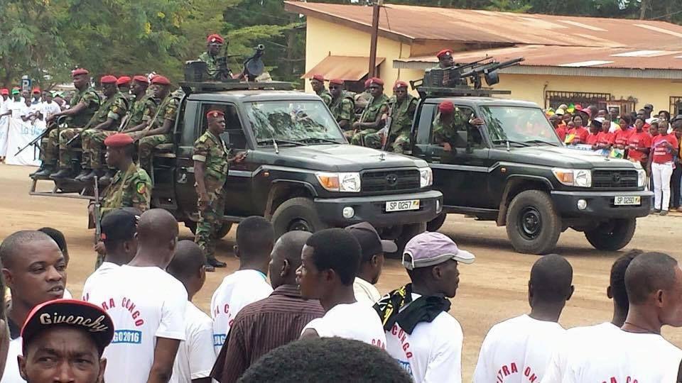 Preuve par l'image: Élection du 20 Mars 2016 au Congo, Sassou Nguesso montre ses muscles.