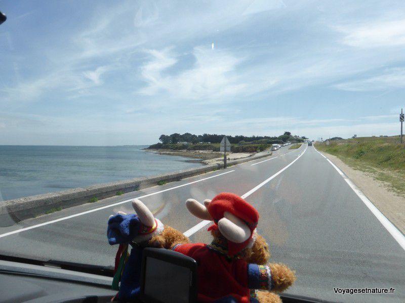En route pour la presqu'île de Quiberon...