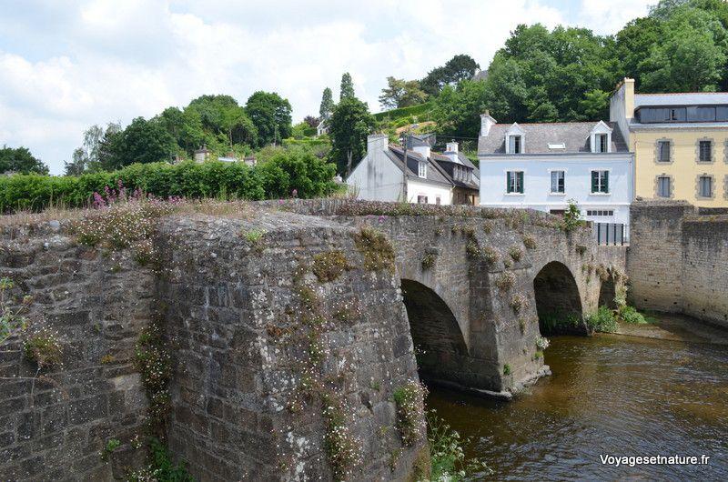 Le pont fleuri sur l'Ellé