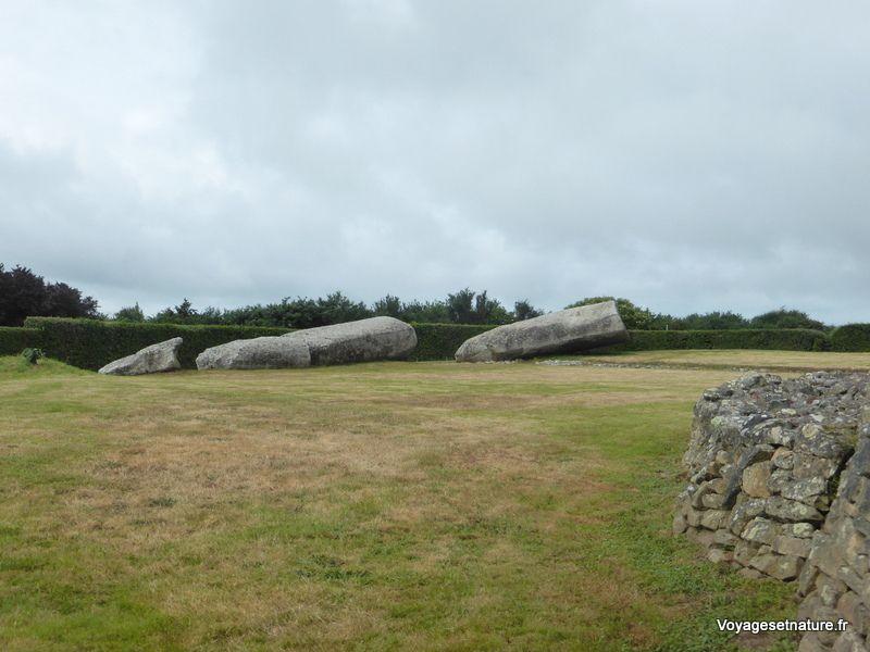 (2) Le grand menhir (25 m) brisé par la foudre au XVIIIème siècle