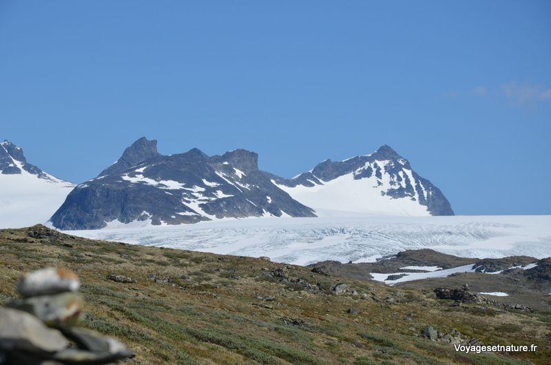 La région des grands glaciers norvégiens
