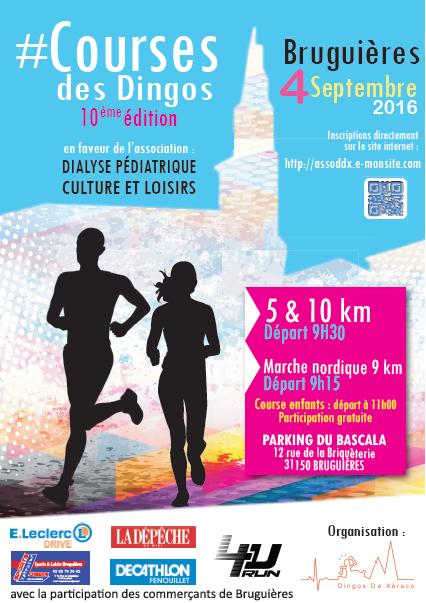 Course à Bruguieres : dimanche 4 septembre