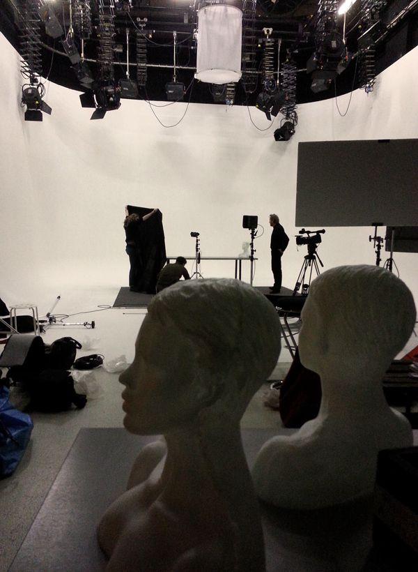 """Plateau de tournage pour le film documentaire """"Ces baisers là"""" de Daniel Schick (foto GhB janvier 2015)"""