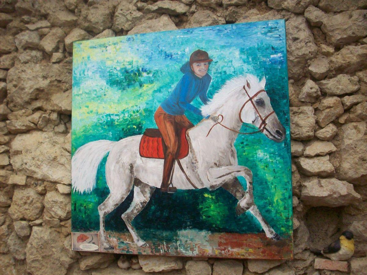 Exposition sur le cheval à la Maison de retraite Jeanne d'Albret à Mauvezin...