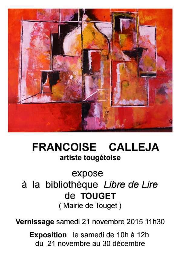 Françoise expose à la bibliothèque à Touget...