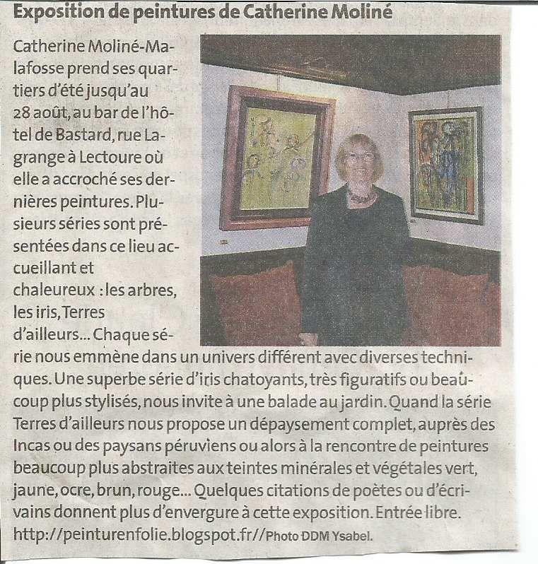 Article paru sur la Dépêche du Midi.