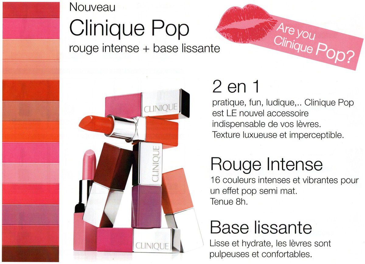 Clinique Pop, le nouveau rouge à lèvres au top!