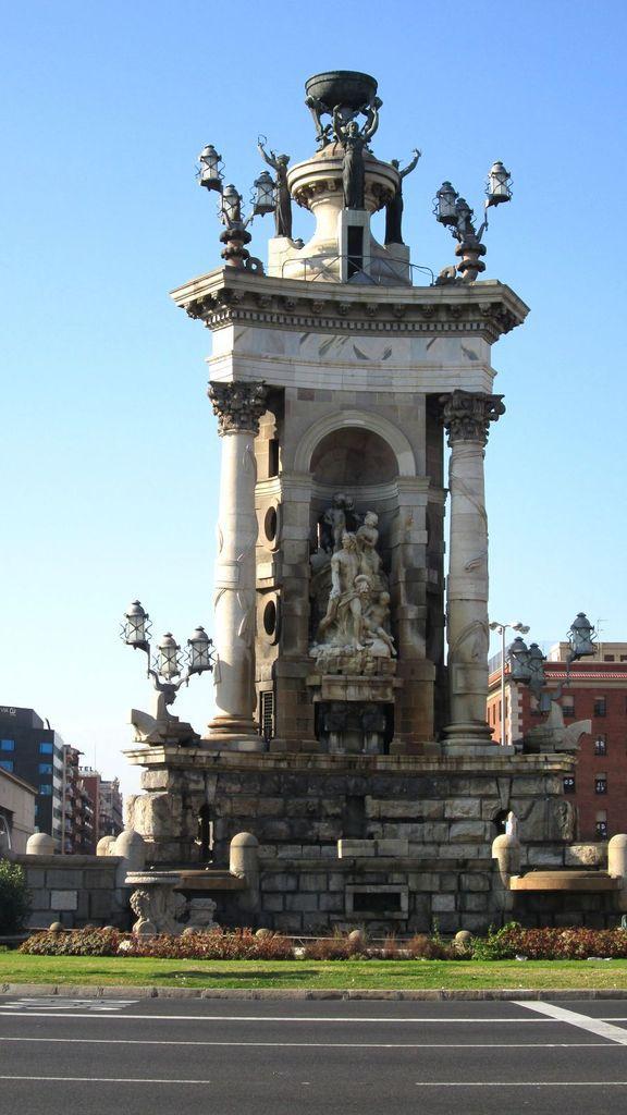 La Plaça de Espana...