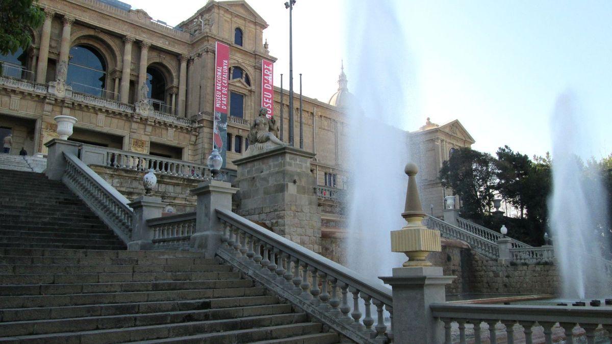 A l'assaut de Montjuic et panorama superbe depuis le Musée des Arts Catalans...