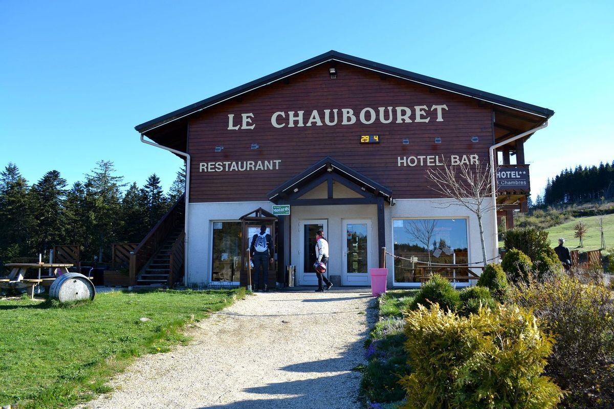 Petit (enfin, tout est relatif, hum!) goûter à l'auberge de Chaubouret...