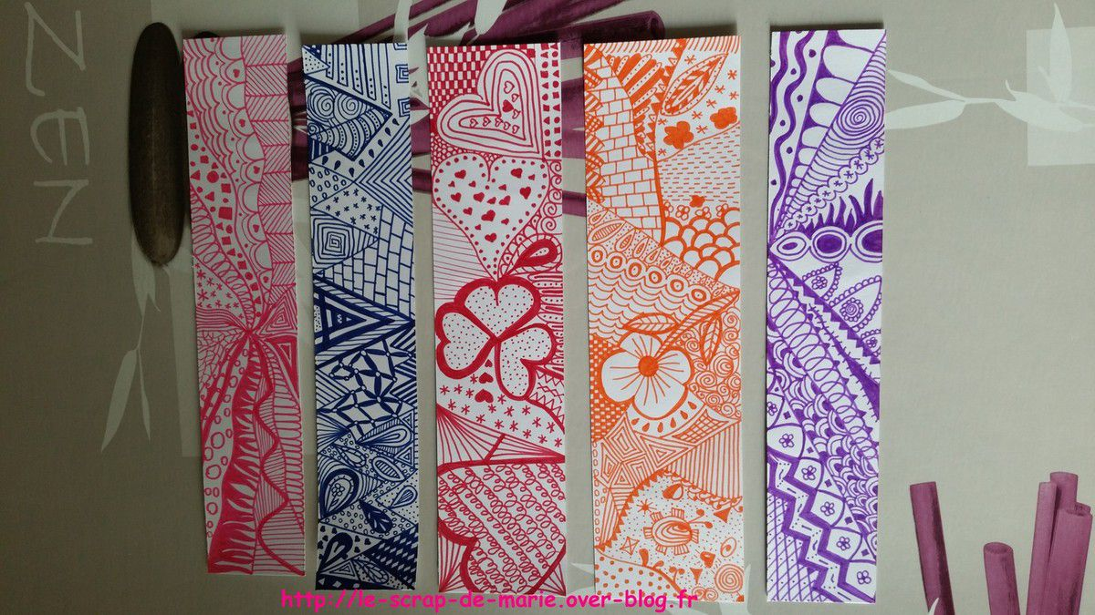 marque page zentangle