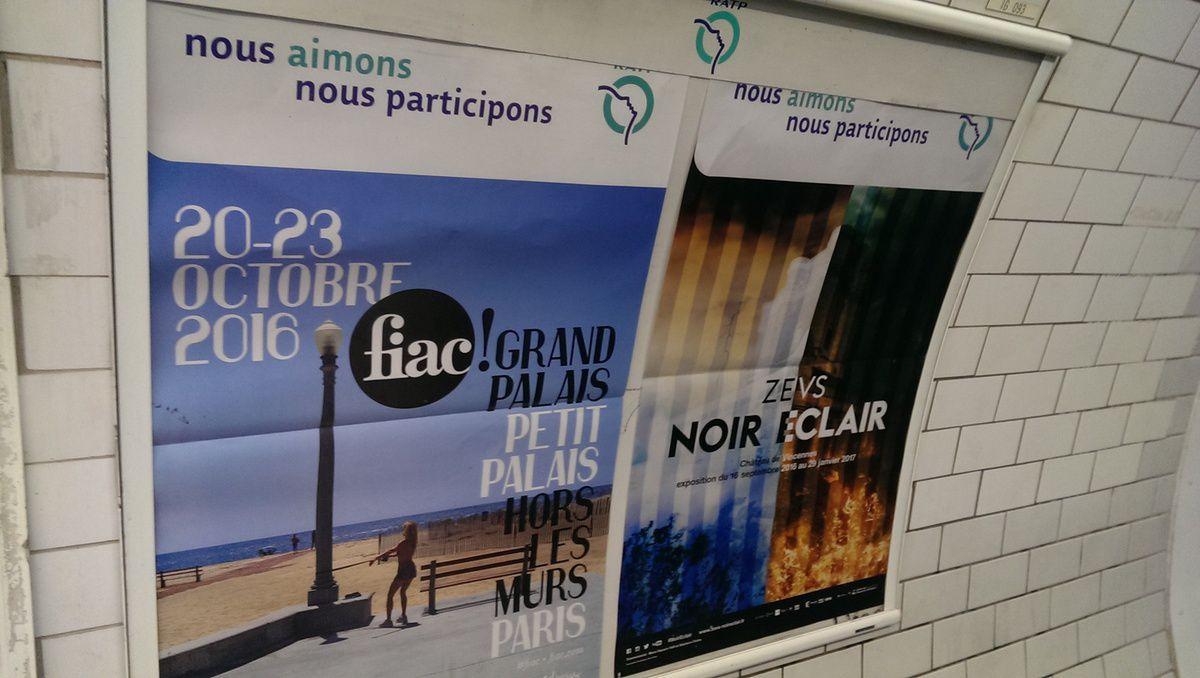 ZEVS- Noir Eclair...Seconde campagne d'affichage dans le métro!