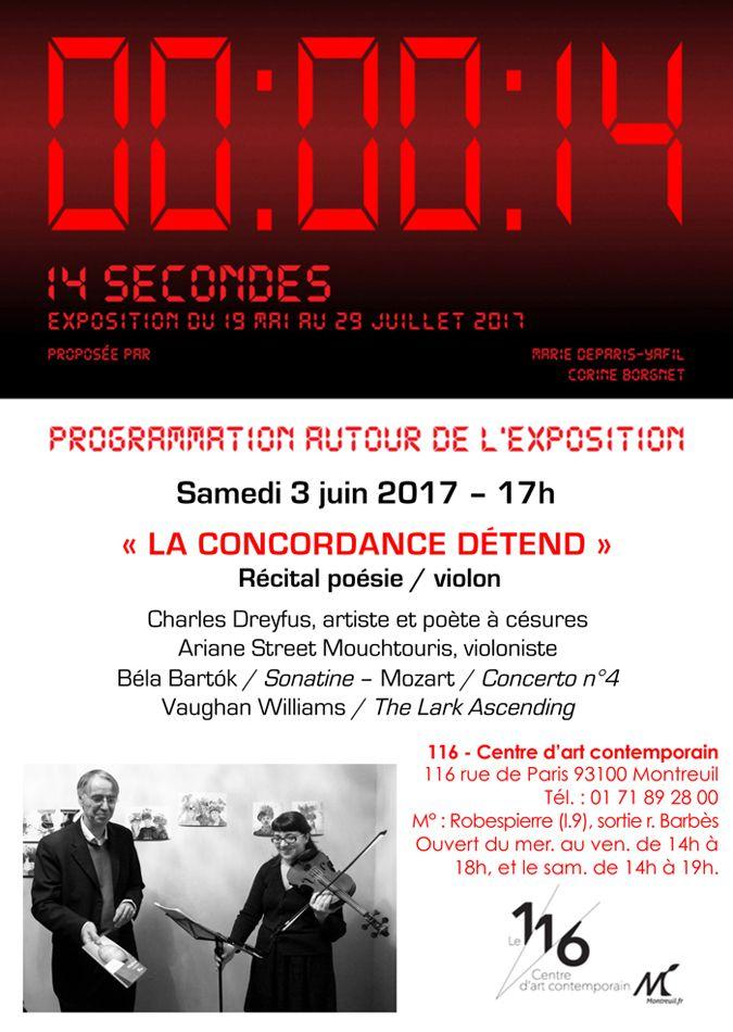 La concordance détend - Une performance de Charles Dreyfus et Ariane Mouchtouris - le 3 juin au 116!
