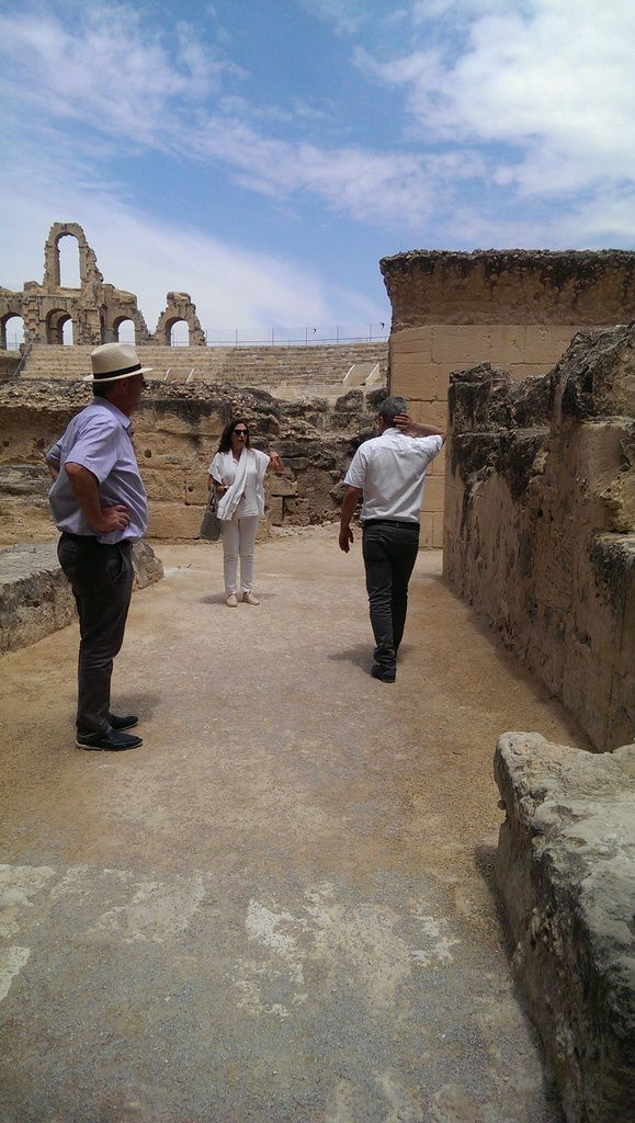 El Jem, repérages et work in progress...