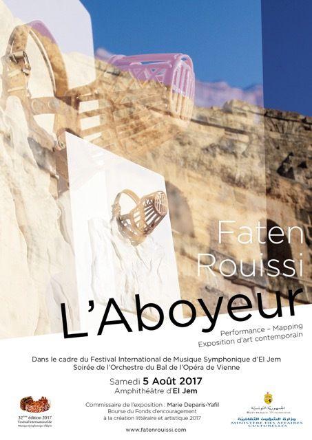 L'Aboyeur - Une exposition performance de Faten ROUISSI à l'Amphithéâtre d'El Jem, Tunisie