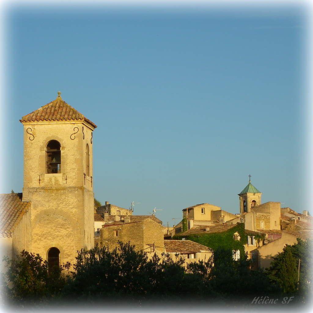 Vue du village de Lourmarin. Provence. France