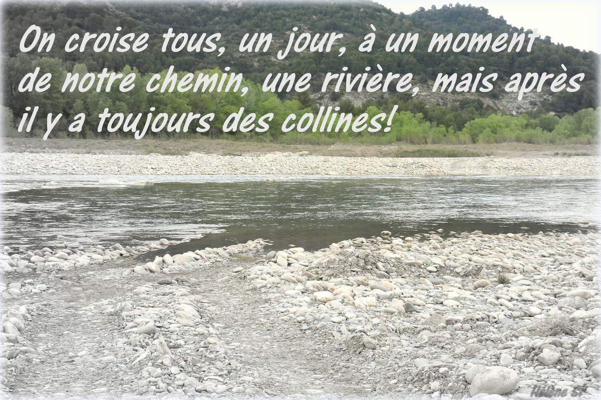 Carte gratuite Quand notre chemin croise une rivière