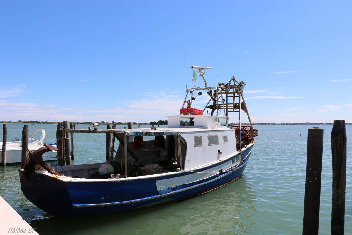 Collection de chalutiers et barques de pêche de Burano
