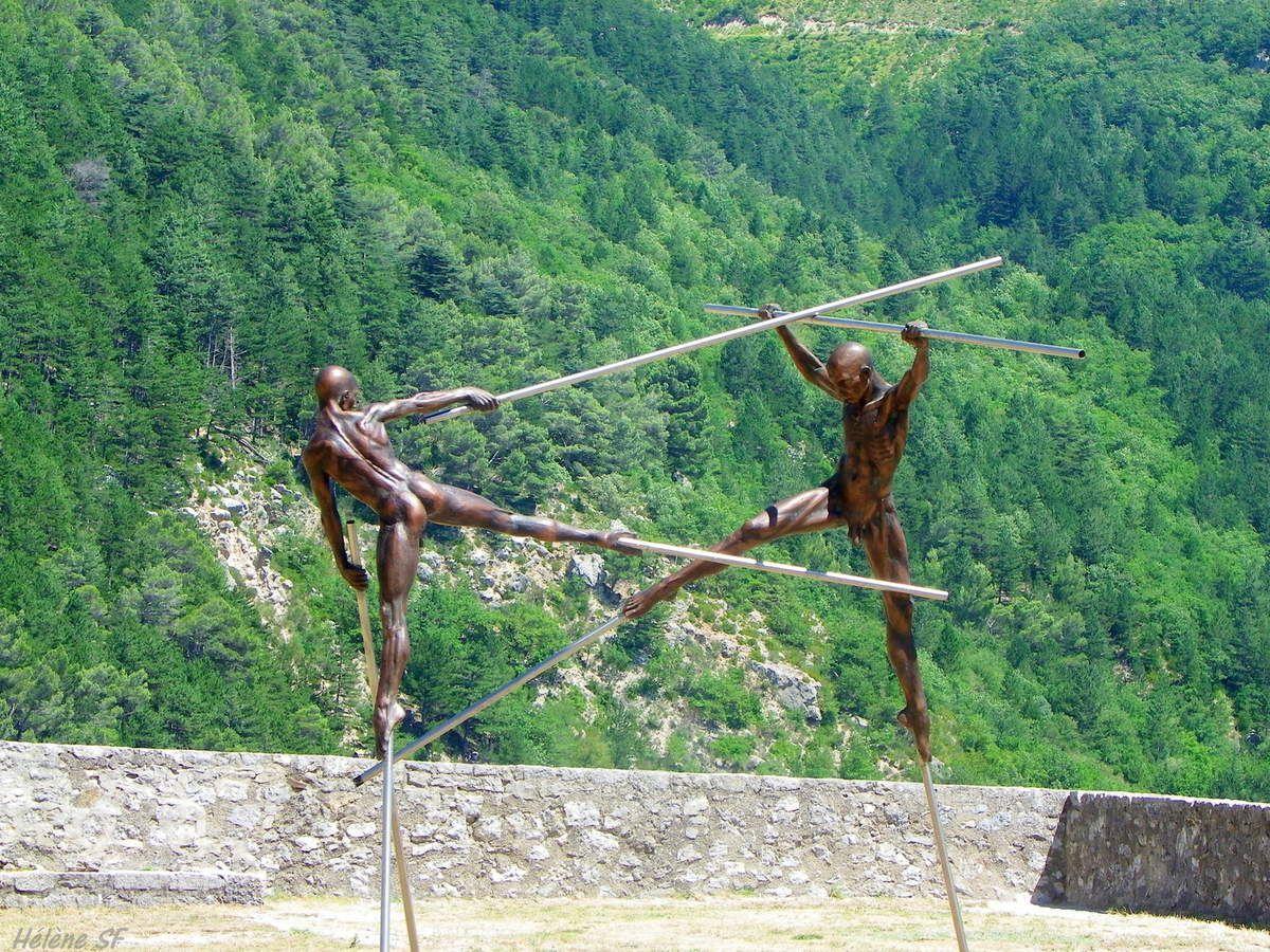 A Sisteron, superbe expo de sculptures de Nicolas Lavarenne