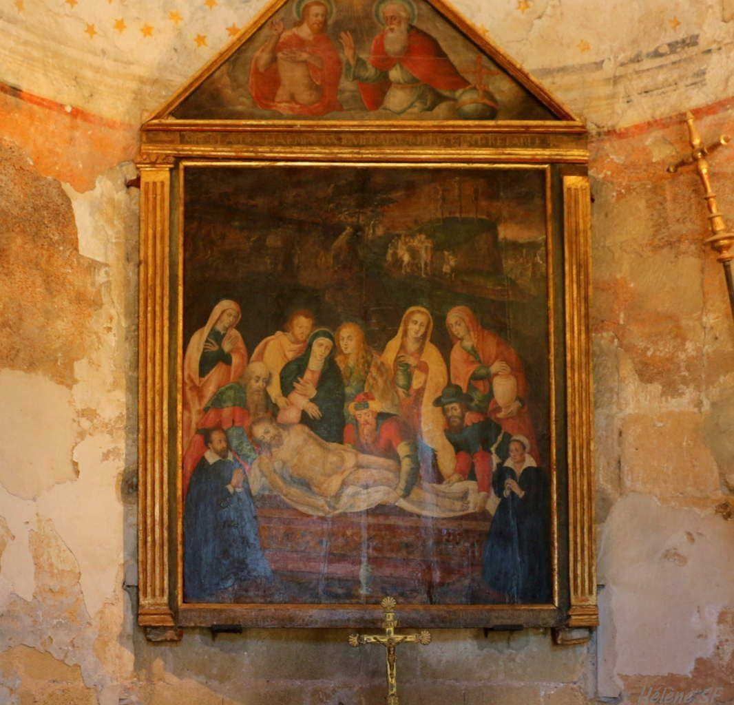 A Peyrolles: visite de la chapelle Saint-Sépulcre du 12ème siècle avec ses fresques