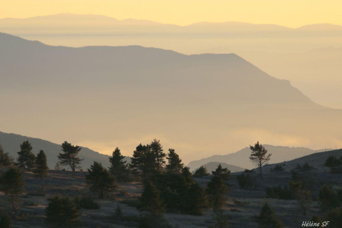 Paysages de montagne dans les Hautes-Alpes