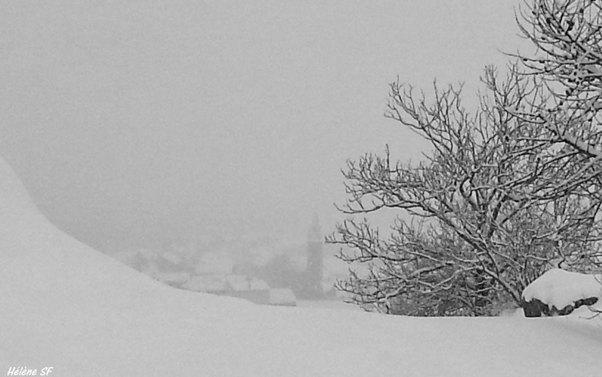 Ancelle Randonnée d'hiver entre Rouanne et Village
