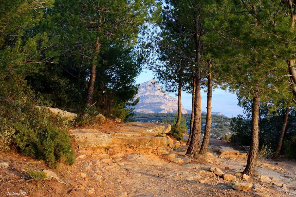 Randonnée entre la barrage de Zola et celui de Bimont, vue sur la montagne Sainte Victoire
