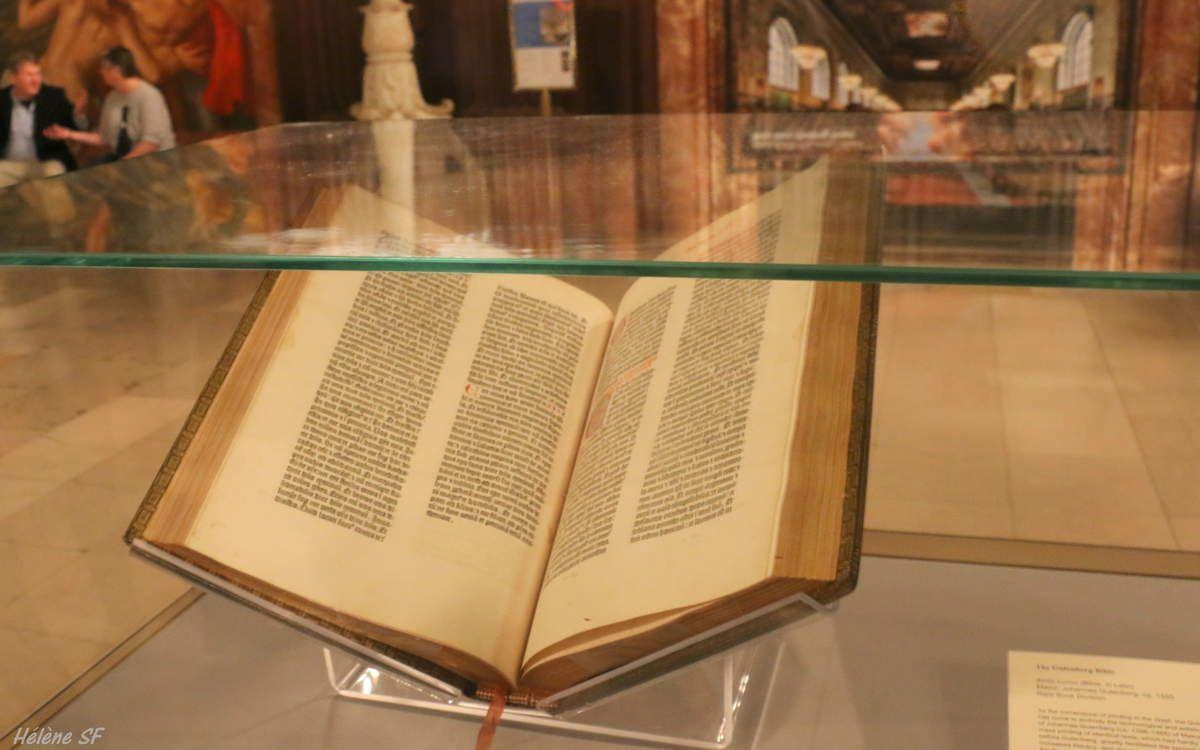 La fameuse bible de Gutemberg