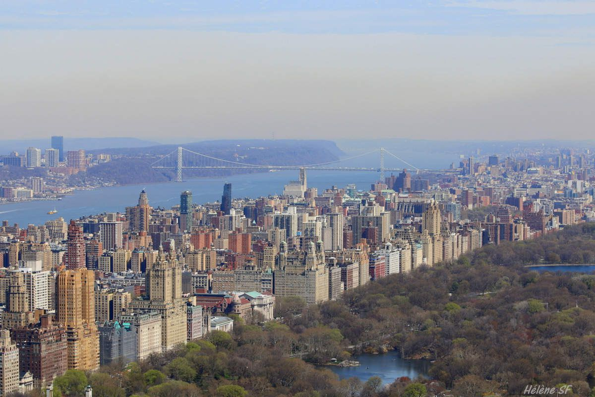 Central Park et l'Hudson et le George Washington Bridge