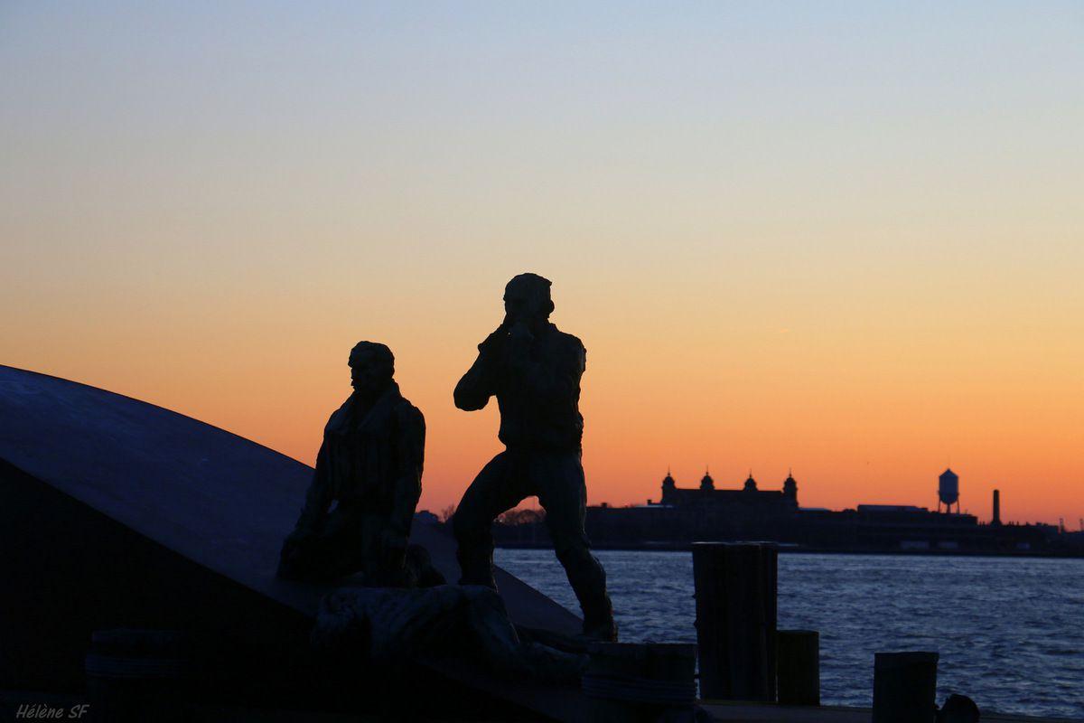 New York idée de soirée: faire une balade romantique le soir à Battery Park