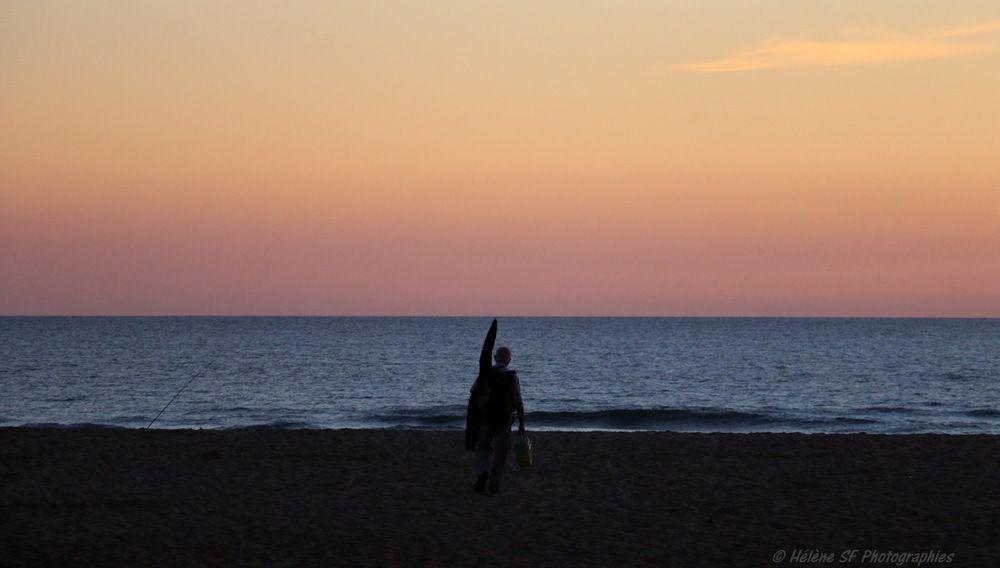 Vieux-Boucau, soleil couchant...