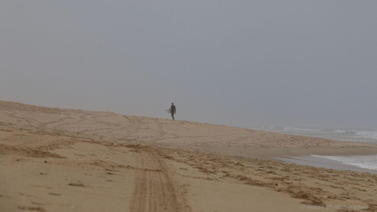 Matin de vacances à l'océan... la magnifique côte sauvage au sud de Vieux-Boucau, un matin gris mais pas que...